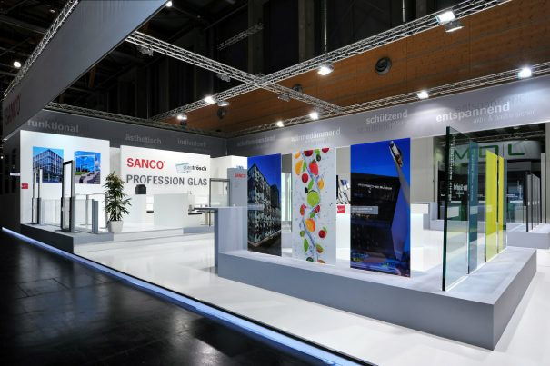 SANCO Messestand FENSTERBAU